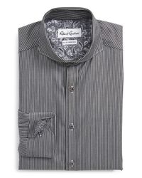 Robert Graham | Black 'avio' Tailored Fit Stripe Dress Shirt for Men | Lyst