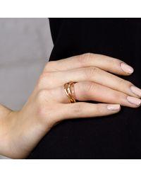 Maya Magal | Metallic Five Strand Ring Rose Gold | Lyst