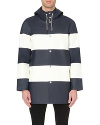 Stutterheim | Blue Stockholm Colour-block Rain Mac for Men | Lyst