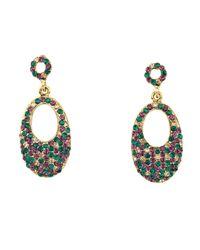 Gemini Multicolor Hollywood Oval Drop Earrings