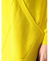 Isola Marras Yellow Over Size Asymmetric Sweater