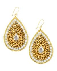 Nakamol | Metallic Beaded Teardrop Earrings | Lyst