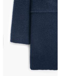 Mango | Blue Pockets Wool Coat | Lyst