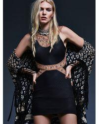 Free People - Black Womens Nefertiti Bodycon Dress - Lyst