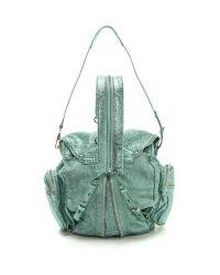 Alexander Wang | Green Marti Foiled Shrunken Backpack | Lyst
