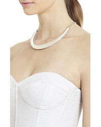 BCBGMAXAZRIA   Metallic Enamel Collar Necklace   Lyst