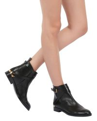 Fratelli Rossetti Black 20Mm Belted Calf Leather Ankle Boots