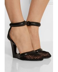 Alexander Wang - Black Caterina Cutout Leather And Mesh Pumps - Lyst