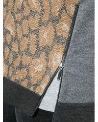 Violeta by Mango Multicolor Zip Detail Leopard Print Jumper