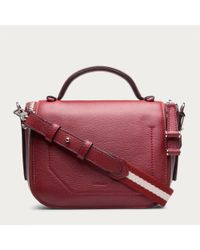 Bally Dossen Stripes Women ́s Leather Mini Bag In Red