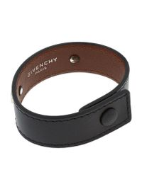 Givenchy | Black Leather Cuff Bracelet | Lyst