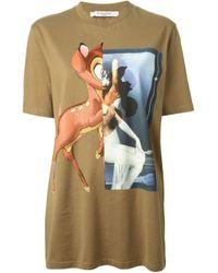 Givenchy Green Bambi Print T-Shirt