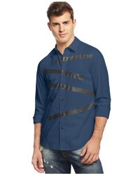 Guess | Blue Laguna Plastisol Shirt for Men | Lyst