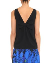 RED Valentino Black Bow-Back Crepe Top