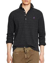 Ralph Lauren - Black Polo Long Sleeve Mesh Estate Shirt for Men - Lyst