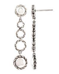 John Hardy | Metallic Palu Round Drop Earrings | Lyst