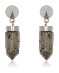 Givenchy - Metallic Cone Pendant Earrings In Pyrite - Lyst