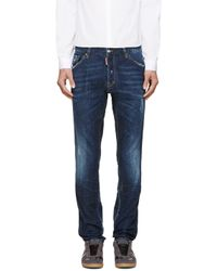 DSquared² Blue Two-Tone Workwear Jeans for men