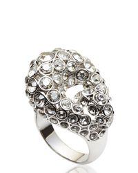 Swarovski | Metallic Silver-Tone & Crystal Ring | Lyst
