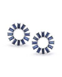Dana Rebecca Blue Anna Beth Sapphire Starburst Earrings