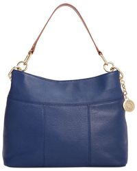 Tommy Hilfiger | Blue Th Signature Leather Small Hobo | Lyst