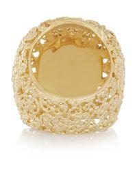 Isharya Metallic Goldplated Resin Ring
