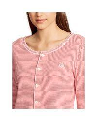 Ralph Lauren - Red Striped Jersey Pajama Set - Lyst