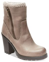 Steve Madden | Natural Sweaterr Heeled Booties | Lyst