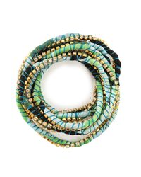 Alyssa Norton | Green Silk Rhinestone Wrap | Lyst