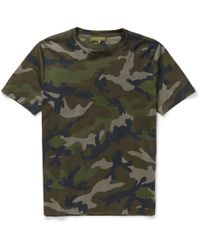 Valentino | Green Camouflage-Print Cotton-Jersey T-Shirt for Men | Lyst