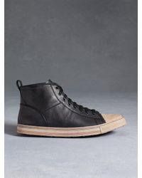 John Varvatos - Black Mick High Top Sneaker for Men - Lyst