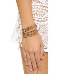 Chan Luu | White Beaded Wrap Bracelet - Natural Mix/Beige | Lyst