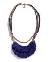 Serefina | Blue Indigo Hmong Necklace | Lyst