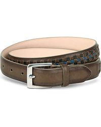 Paul Smith | Brown Woven Leather Belt - For Men for Men | Lyst