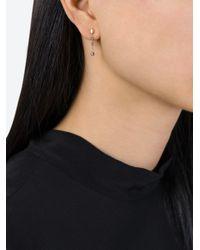 Natasha Collis | Metallic Sapphire Bead Drop Earrings | Lyst