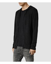 AllSaints - Black Hiru Cashmere Hoody for Men - Lyst