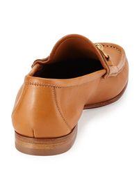 Gucci Brown Leather Horsebit Loafer for men