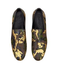Jimmy Choo Sloane Olive Green Mix Metallic Camouflage Leather Slippers for men
