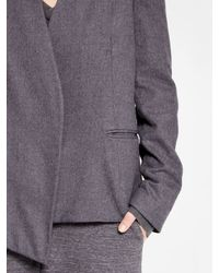 DKNY - Gray Pure Belted Jacket With Ombre Lining - Lyst