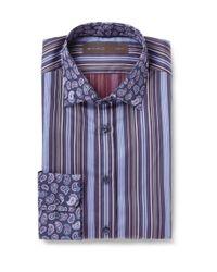 Etro | Blue Paisley Print Shirt for Men | Lyst