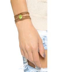 Sogoli | Metallic Stone Wrap Chain Bracelet - Gold/silver/rose Gold/turq | Lyst