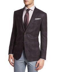 Ermenegildo Zegna - Brown Dotted Silk Jacquard Tie for Men - Lyst