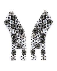 Lanvin | Green Crystal Drop Clip-on Earrings | Lyst