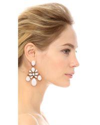 Oscar de la Renta - White Iconic Chandelier Clip On Earrings - Lyst