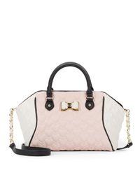 Betsey Johnson - Pink Be My Bow Large Satchel - Lyst