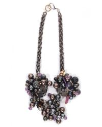 Subversive Jewelry | Brown Pearls Couture Necklace | Lyst