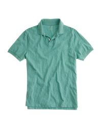 J.Crew | Green Textured Polo Shirt for Men | Lyst