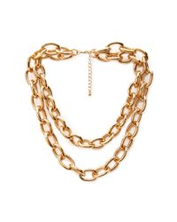 Forever 21 | Metallic Chunky Layered Chain Necklace | Lyst