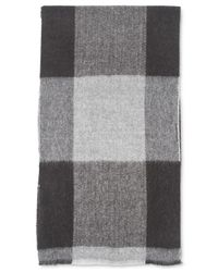 Tommy Hilfiger Gray Oversized Buffalo Check Scarf for men