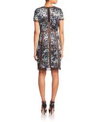 BCBGMAXAZRIA - Multicolor Mesh Panel Dress - Lyst
